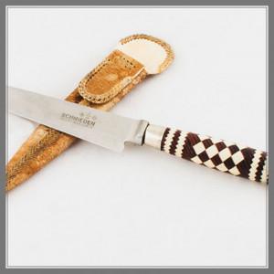 Cuchillo Acero Inox. 14 cm Encabado Trenzado Fino con Alpaca